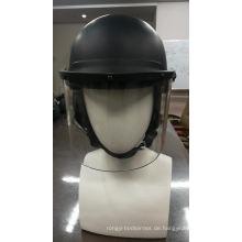 Kundenspezifischer Anti-Aufstand-Polizei-Helm-transparenter Gesichts-Visier-Aufstand-Steuer-Polizei-Helm mit ABS oder PC-Material
