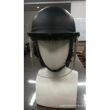 Casco de policía antidisturbios personalizado Casco de policía de control de disturbios con visor de cara transparente con material de ABS o PC