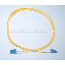 LC / LC Duplex SM Cable de conexión de fibra óptica