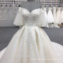 High Quality Off Shoulder latest design Wedding Dress Bridal Gown DY033