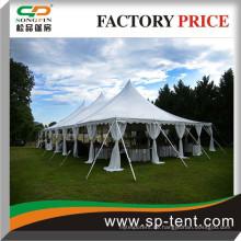 Auf Verkauf Heavy Duty billige Gala-Pole Zelt mit faltbaren Tischen und Stühlen für Outdoor-Hochzeitsfeier Veranstaltungen 40 Fuß x 100 Fuß