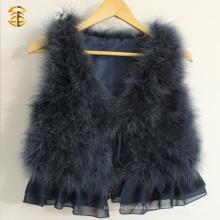 Cute Girls Turquía chaleco de plumas caliente chaleco más barato de piel para las mujeres