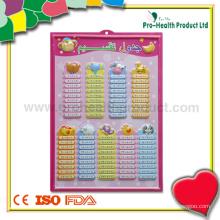 Graphique de tableau d'éducation mathématique pour enfants