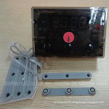 Teclado condutor da borracha de silicone das chaves da matriz 1X3 3