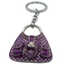 El llavero monedero púrpura