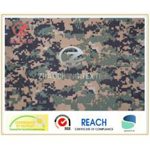 1000d Nylon Cordura Camouflage impressão, estilo americano, PU revestido militar Bulletproof Vest tecido (ZCBP022)