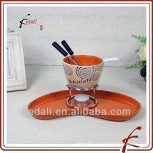Набор из керамической шоколадной фондю с вилкой