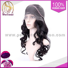 With Bangs Peruvian Virgin Beyonce Wavy Remy Hair Full Lace Wig