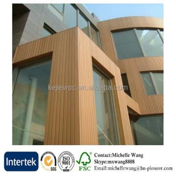 Popular Wood Plastic Composite Wall Cladding Wood Engineered Flooring 9 Options ISO SGS FSC Intertek 15-20 Years KJWPC-0414