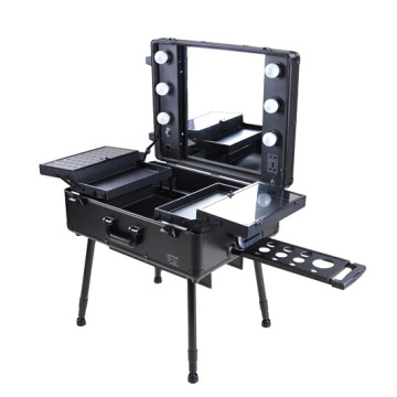Professional Light Cosmetic Case Makeup Station Mirror
