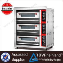(Ce-Zustimmung) Öfen der hohen Qualität K045 für Verkauf 3 Plattformdrehofen für Bäckerei