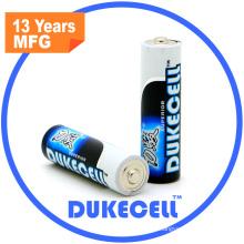 Batterie alcaline de la batterie AA Lr6 1.5V de drain élevé
