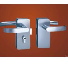 Zinklegierung Hebelschraube Patch Glastürschloss mit Schlüsseln