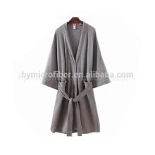 Мягкое касание ткани Джерси открытый спереди кружевной отделкой халат для леди