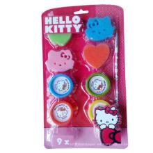 hola gatito lindo esponja juguete niños sello
