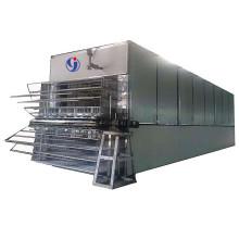 Hot air dryer for drying wood core veneer in veneer production line