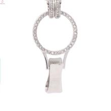 Lanyard floating charm locket for badge holder, sterling silver glass locket, imam ali locket