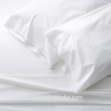 Atacado 100% algodão uso de tecido branco para folhas e capas de edredão