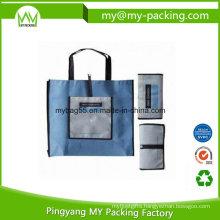 Eco Friendly Waterproof Nonwoven Zipper Foldable Bag