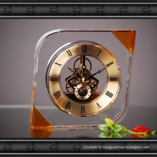 New Design Crystal Glass Clock Craft for Gift