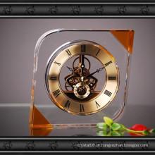 Novo design de cristal de vidro relógio de artesanato para presente