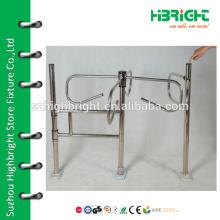 Supermarket Mechanical turnstile barrier swing gate