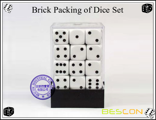 Brick Packing of Dice Set