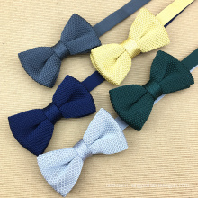 Fashion 2017 Solid Color Mens Silk Knit Bow Ties