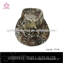 boys led leopard fedora hat