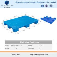 1100X1100 Flat Top Preços de paletes de plástico por grosso