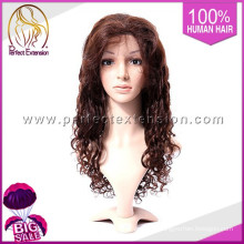Virgin Human Hair Deep Wave Cheap Lace Front Synthetic Wigs For Black Women