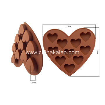 Diy Tool for Candy Chocolate Tray Silicone Heart Mould