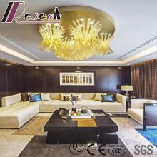 Lámpara colgante de cristal de lujo de Champagne Big Size con hotel