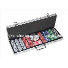 Poupée de poker 500PCS dans un boîtier en aluminium rond (SY-S26)