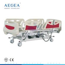 AG-BY003C cama de hospital eléctrica de cinco funciones ajustable en altura más avanzada para la venta