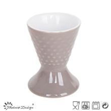 Antique Embossed Stoneware Egg Cup Holder