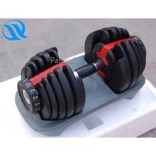 Revêtus de caoutchouc de produits nouveau fitness haltères réglables