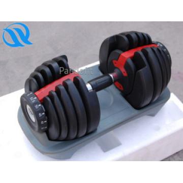 Gimnasio nuevos productos caucho recubierto pesa de gimnasia ajustable
