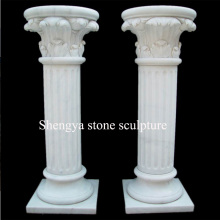 White Marble Stone Sculpture Column (SY-C023)