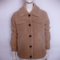 Winter Turn-Down Collar Ladies Short Coats Fur Fluffy Sherpa Fleece Jacket Womens
