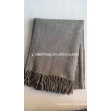 inner mongolia wool.pashmina.cashmere throw.blanket herringbone