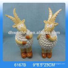 2016 lovely ceramic goat statue,ceramic goat decoration,ceramic goat figurine