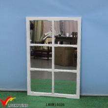 Белый античный деревянный декоративный настенный зеркало