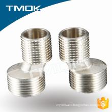 brass nickel plating double internal thread fitting