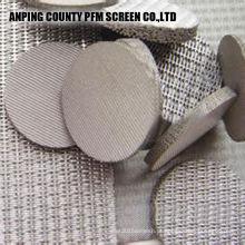 Filtros de óleo cilíndricos Multilayer Ss filtro de arame aglomerado de 2 mícrons