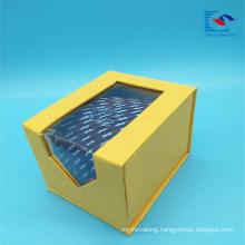 Custom size unique design flip top magnet tie packaging gift box