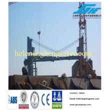 Grue à flèche de navire / pont / guillotine avec bloc d'alimentation électrique