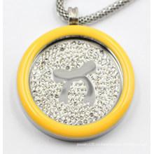 Высокое качество 316L Хирургическая Нержавеющая сталь медальон кулон с эмалью Топ
