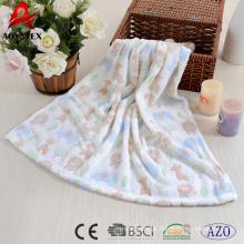 malha padrão animal Jacquard coral fleece baby cute blanket