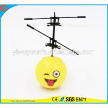 Высокое Качество Интересные Мини Летающий Мяч Игрушка Смайлики Милые Лица Хели Мяч